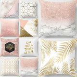 Gold Shining Printed Throw Pillow Cover