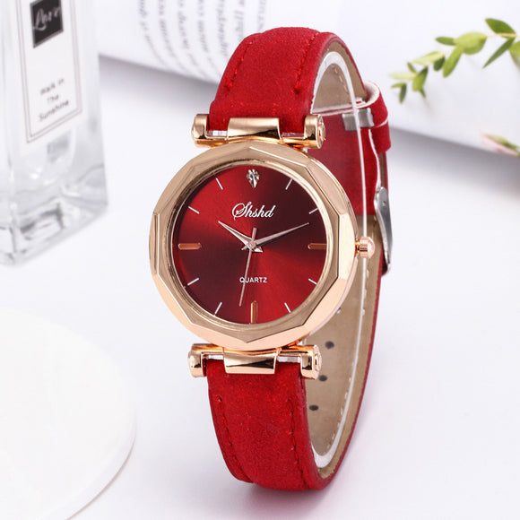 Saatleri Quartz Leather Wristwatches