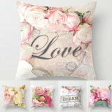 Floral Printed Pillow Cover