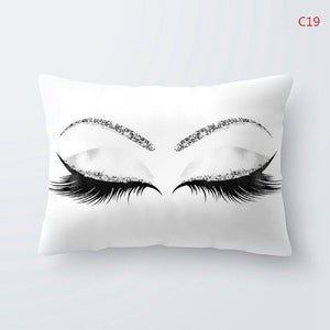 Eyelash Glitter Cushion