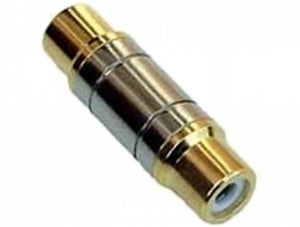 Female To Female RCA Phono Adapter (Gold Plated)