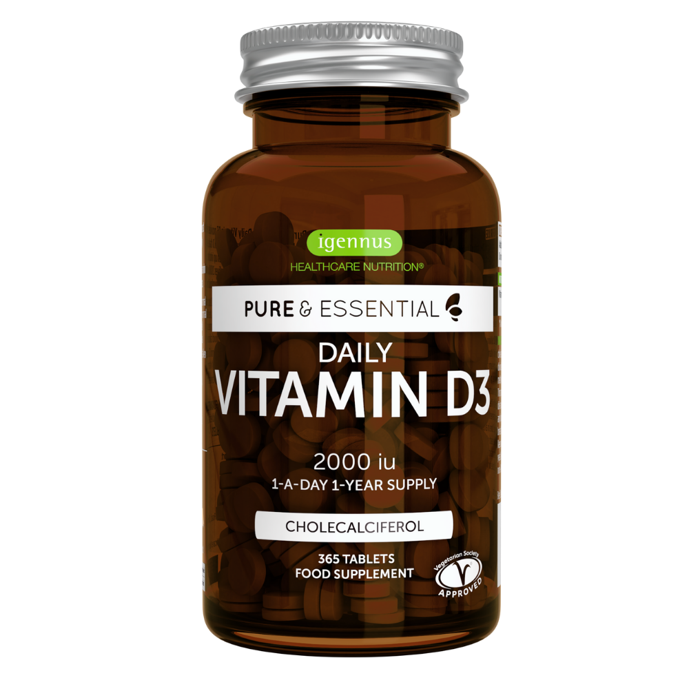 Pure & Essential Daily Vitamin D3 2000IU Cholecalciferol, 1-a-day, 365 tablets