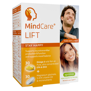MindCare LIFT stay happy - mood lift supplement with 5-HTP, omega-3, magnesium & multivitamins