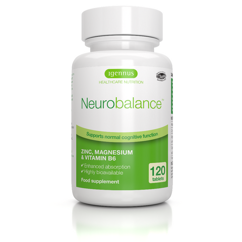 Neurobalance - Zinc, magnesium & vitamin B6 for adults & children, 120 tablets