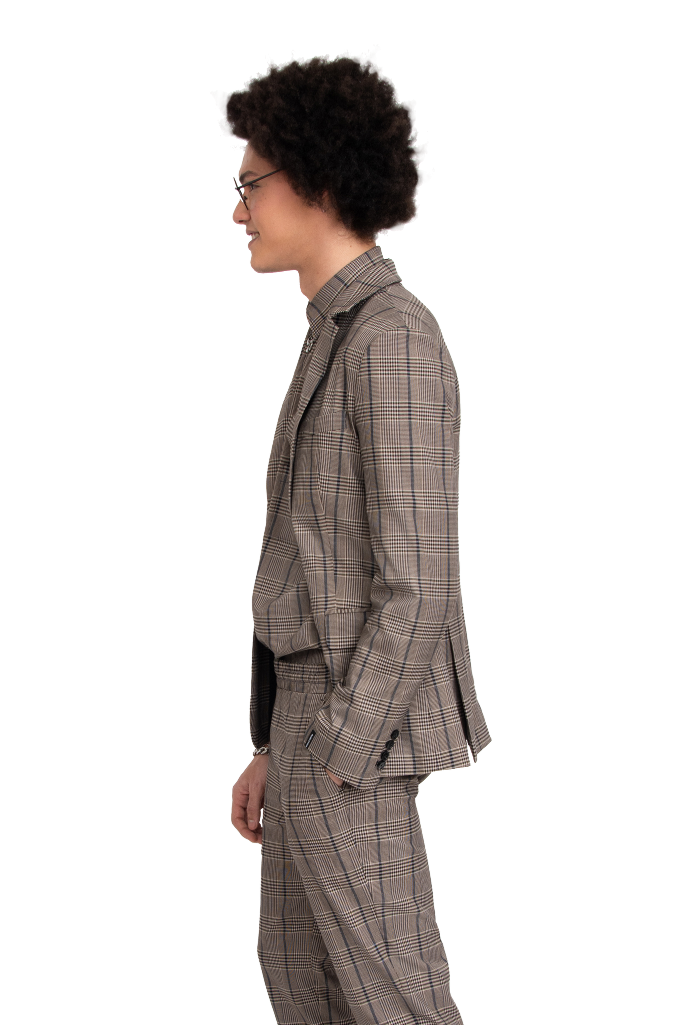 BH Plaid Suit Jacket - Bobblehaus