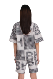 BH Printed Ripstop Nylon Camp Collar Shirt - Bobblehaus