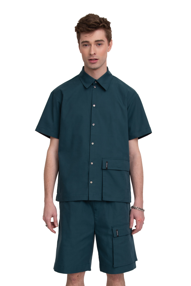 BH SS Single Cargo Pocket Button-Up - Bobblehaus