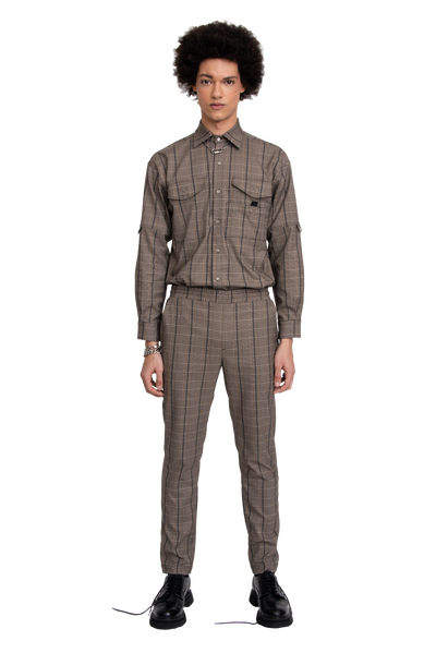 BH Plaid Tapered Suit Pants - Bobblehaus