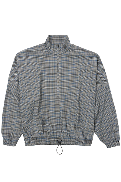 BH Signature Plaid Half-Zip Jacket - Bobblehaus