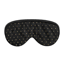 Load image into Gallery viewer, Nighty Night Sleep Mask | Black Gold Polka Dot - lujo bar