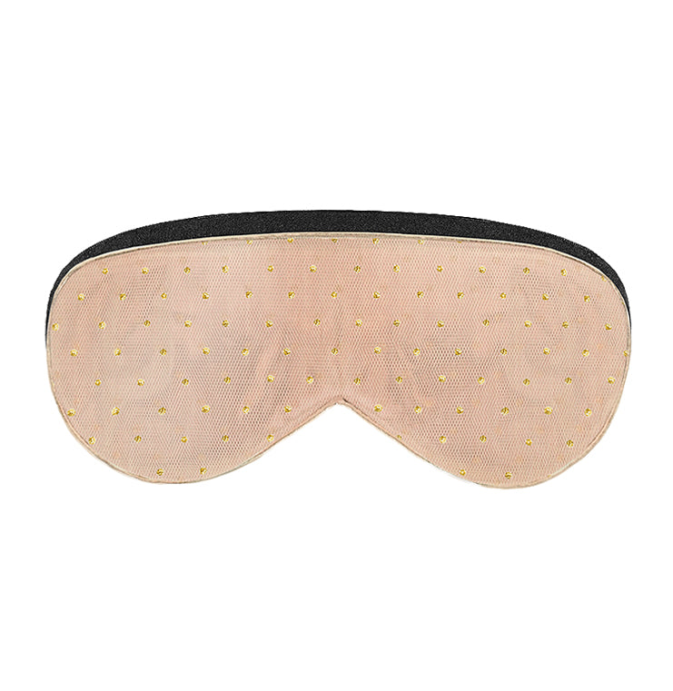 Nighty Night Sleep Mask | Rose Gold Polka Dot - lujo bar