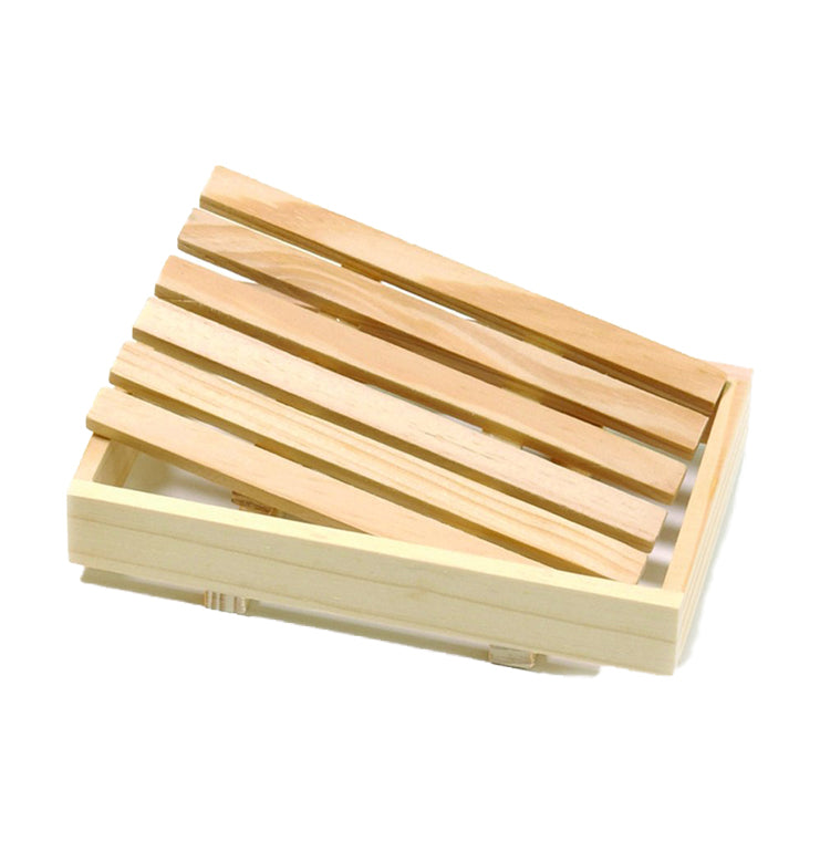 Natural Wooden Soap Dish - lujo bar