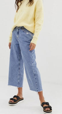 New Look Wide Hem Jeans in blue
