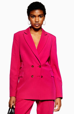 BRIGHT Pink fully lined Blazer from Topshop