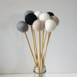 Custom Pom Pom Flowers, Felt Ball Bouquet Room Decor