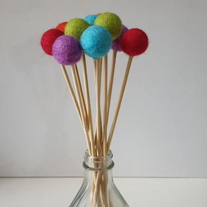 Rainbow Pom Pom Flowers, Felt Ball Bouquet Room Decor