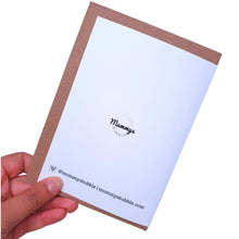 Load image into Gallery viewer, Hug in a Card - A6 Monochrome Typo Greeting Card