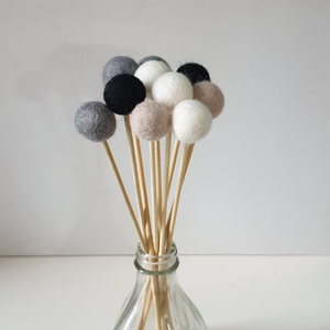 Monochrome Pom Pom Flowers, Felt Ball Bouquet Room Decor