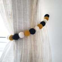 Load image into Gallery viewer, Bee Curtain Felt Ball Pom Pom Tie Backs