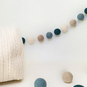 Bluebell Pom Pom Garland - Felt Ball Nursery Decor