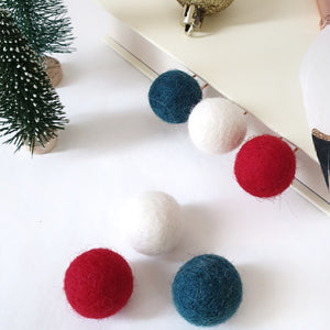 Christmas Pom Pom Paperclips - Felt Ball Stationary Bookmarks