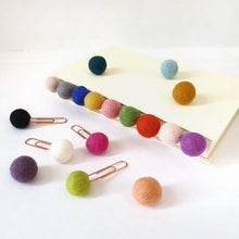 Load image into Gallery viewer, Mermaid Pom Pom Paperclips - Felt Ball Stationary Bookmarks