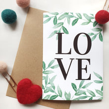 Load image into Gallery viewer, Love - A6 Botanical Watercolour Greeting Card