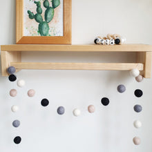 Load image into Gallery viewer, Monochrome Pom Pom Garland - Felt Ball Nursery Decor