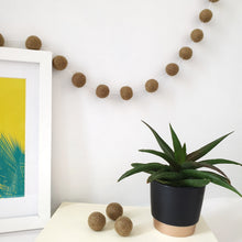 Load image into Gallery viewer, Olive Pom Pom Garland - Felt Ball Nursery Decor