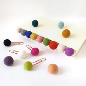 Bee Pom Pom Paperclips - Felt Ball Stationary Bookmarks