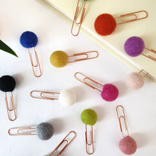 Load image into Gallery viewer, Custom Pom Pom Paperclips - Felt Ball Stationary Bookmarks