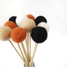 Load image into Gallery viewer, Pumpkin Pom Pom Flowers, Felt Ball Bouquet Room Decor
