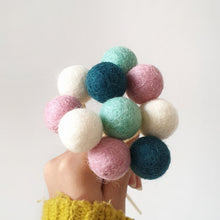 Load image into Gallery viewer, Winter Pom Pom Flowers, Felt Ball Bouquet Room Decor