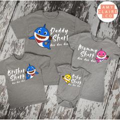 9fb71321 Baby Shark doo doo doo Family matching grey t-shirts! - Mommy, Daddy