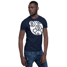 Load image into Gallery viewer, Bitcoin Monogram Short-Sleeve Unisex T-Shirt - Couchboss