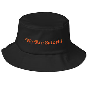 We Are Satoshi Old School Bucket Hat - Couchboss