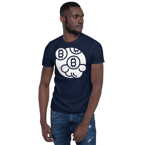 Bitcoin Monogram Short-Sleeve Unisex T-Shirt - Couchboss