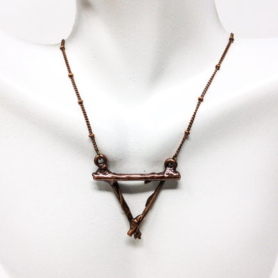 3028 Vintage Copper Birch Twig Necklace