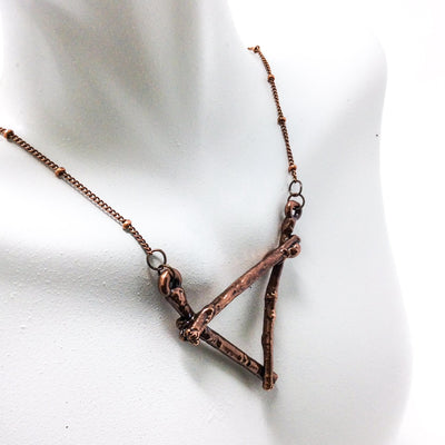 0050 Vintage Copper Birch Twig Necklace