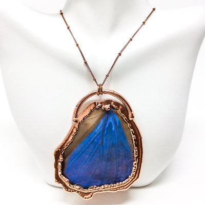 3038 Vintage Boho Electroformed Butterfly Antique Necklace