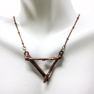 0055 Vintage Copper Birch Twig Necklace