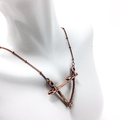 0042 Vintage Copper Birch Twig Necklace