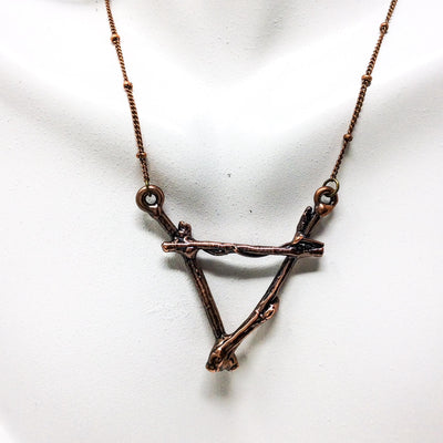 3044 Vintage Copper Birch Twig Necklace