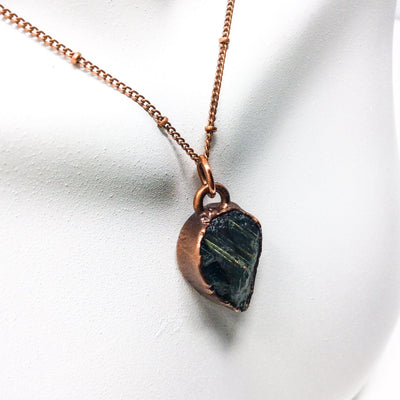 3023 Vintage Boho Electroformed Labradorite Chakra Antique Stone Necklace