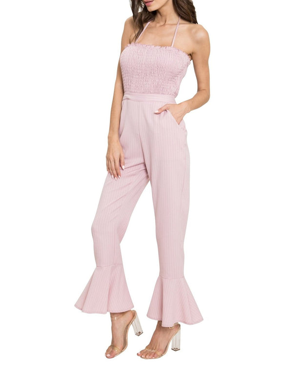 Dreamy Pink Striped Jumpsuit