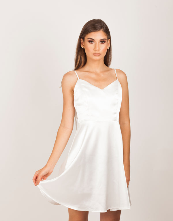 White Angel Silky Dress |MyCAVI