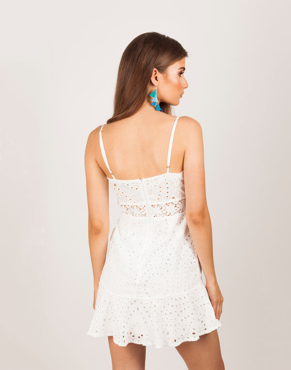 Touch of Heaven White Summer Mini Dress|MyCAVI