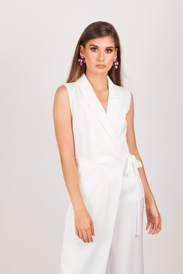 White Boss Lady Jumpsuit |MyCAVI