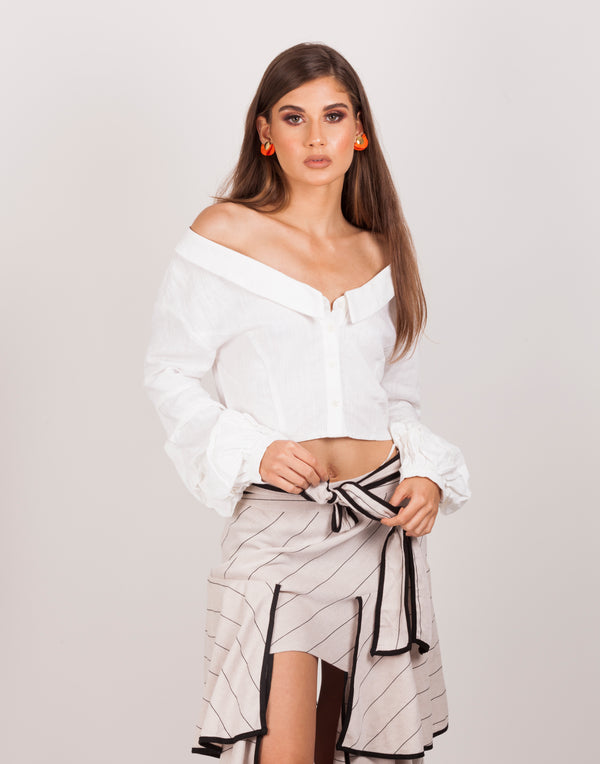Flare By it Black and White Stripe Set |MyCAVI