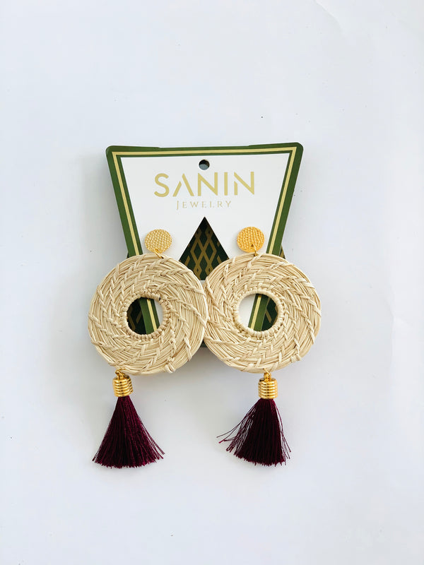 Becca Long Earrings | CAVI Miami Online Women Clothing Boutique | Hand made jewelry